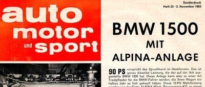 L'histoire d'ALPINA Automobiles