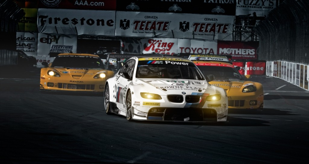 BMW ALMS M3 leading corvette