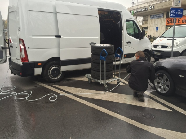 Installation pneus à domicile